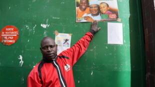 Sekou Simaga, un Malien du foyer Bara, à Montreuil.