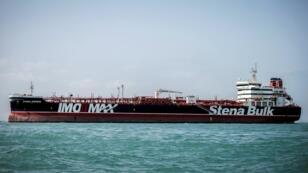 El barco Stena Impero detenido frente a las costas de Irán.