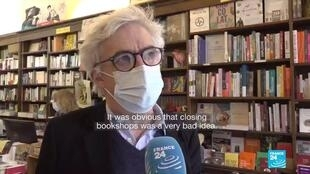 Customers in Paris were keen to shop for books again after a second Covid-19 lockdown forced bookshops to close through November.