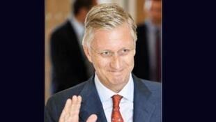 Le prince Philippe, futur roi des Belges