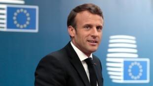 Emmanuel Macron à son arrivée au deuxième jour du sommet européen à Bruxelles, le 21 juin 2019.