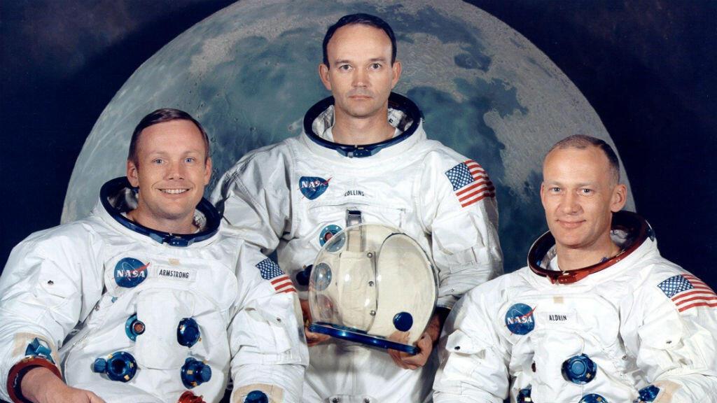 Archivo: retrato de la tripulación del Apolo 11, los astronautas Neil A. Armstrong, Michael Collins y Edwin Aldrin en julio de 1969.