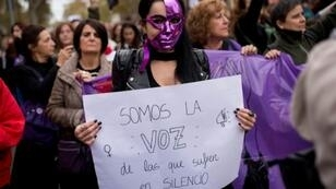 Feminists have held massive street protests across Spain