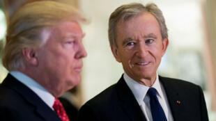 Le président élu américain Donald Trump a rencontré le patron français de LVMH Bernard Arnault