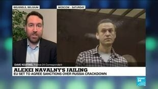 2021-02-22 08:05 Alexei Navalny's jailing: EU set to agree sanctions over Russia crackdown