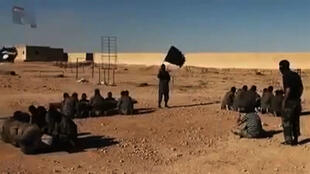 Screen grab from an Islamic State group propaganda video allegedly shows a militant training ground