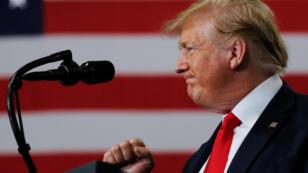 El presidente Donald Trump habla durante una visita a Milwaukee, Wisconsin, EE. UU., el 12 de julio de 2019.
