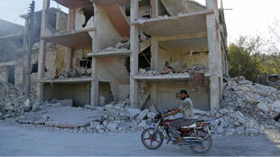 Des avions de combat russes ont frappé le nord-ouest d'Idleb, contrôlé par les rebelles syriens, le 4 septembre.