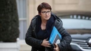 La présidente de la FNSEA, Christiane Lambert, arrive à l'Elysée pour un entretien avec Emmanuel Macron, le 11 février 2019