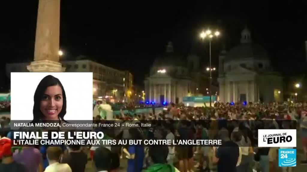 2021-07-12 00:10 Finale de l'Euro-2021 : scènes de liesse dans les rue de Rome