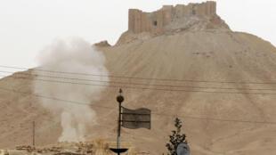 La citadelle de Palmyre en avril 2016.