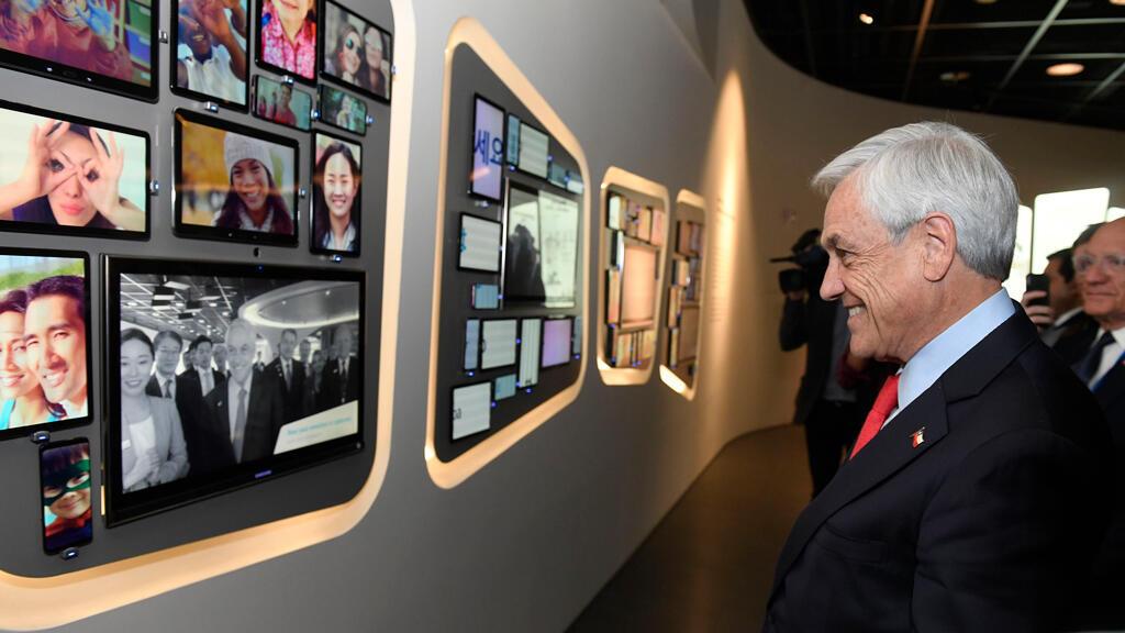 Sebastián Piñera visita un museo de innovación en Seúl, Corea del Sur, el 29 de abril de 2019.