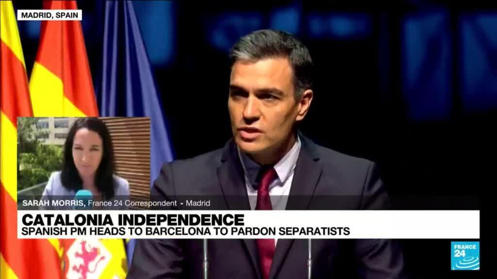 2021-06-21 13:13 Spanish PM heads to Catalonia before pardon to separatists