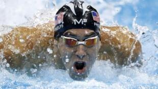 صورة للسباح الأمريكي مايكل فيلبس أخذت في 13 آب/أغسطس 2016 خلال أولمبياد ريو دي جانيرو