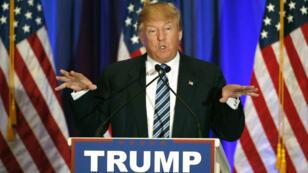 Donald Trump lors d'une conférence de presse le 5 mars 2016, en Floride.