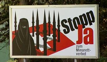 Les affiches de l'UDC contre les minarets