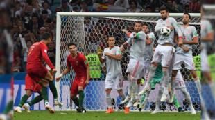 El golazo de la jornada: el tiro libre de Cristiano Ronaldo frente a España.