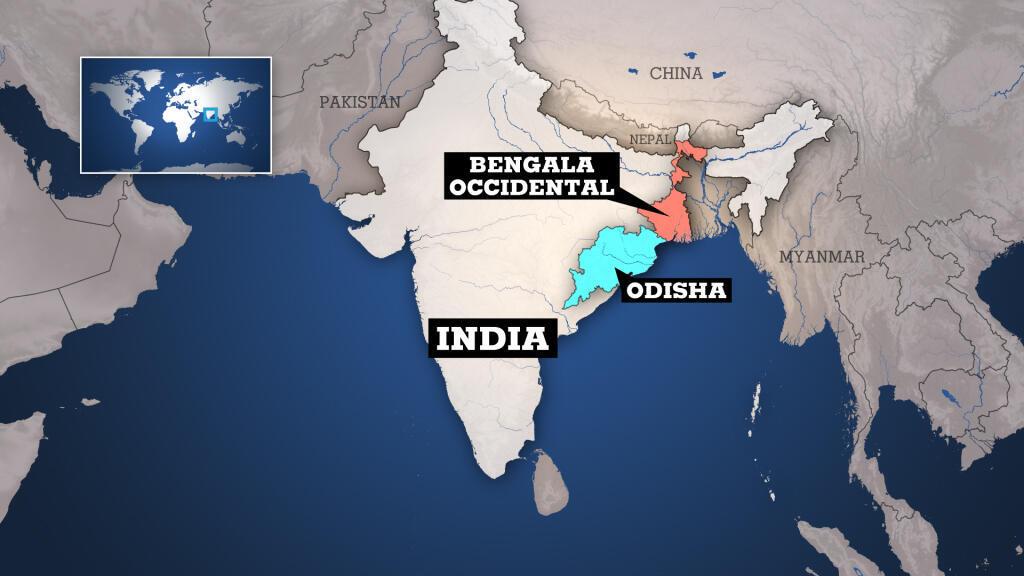 Los estados de Bengala Occidental y Odisha han sido los más afectados por el ciclón Amphar.