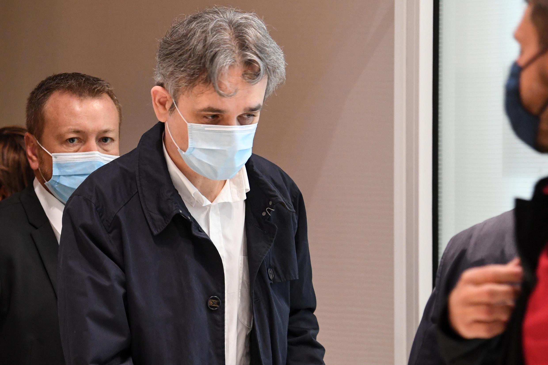 El director de la publicación de Charlie Hebdo, Riss, el 9 de septiembre de 2020, en el juzgado de París.