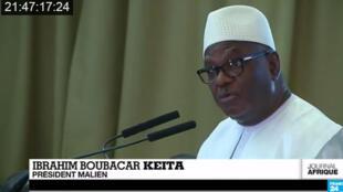 Le président malien, Ibrahim Boubacar Keïta, au sommet de Dakar le mardi 16 décembre.