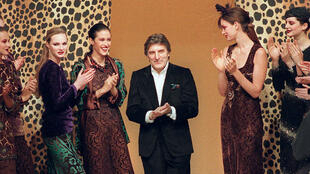 French fashion designer Emmanuel Ungaro at one of his label's fashion shows in Paris in 1997.