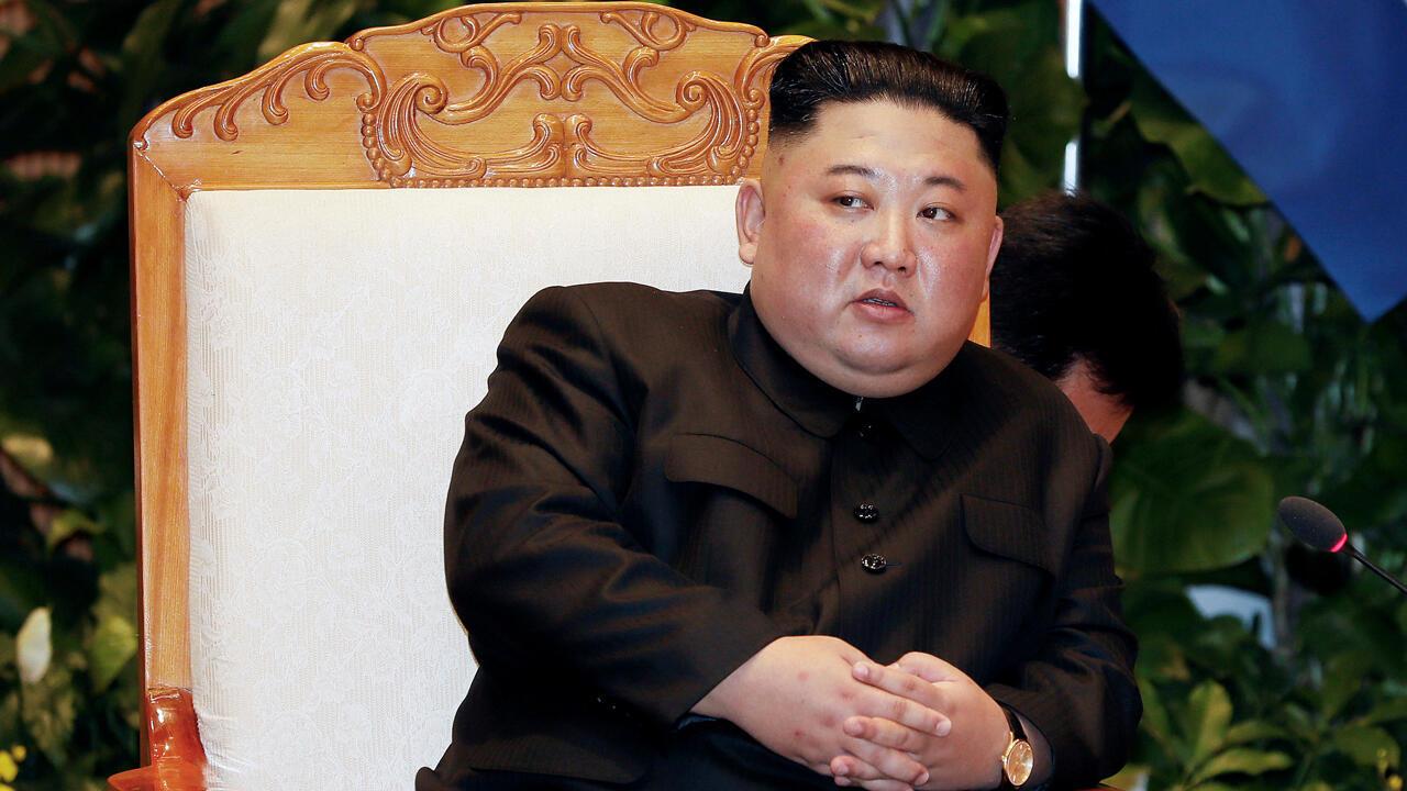 El líder de Corea del Norte, Kim Jong-un, en la Oficina del Gobierno en Hanói, Vietnam, el 1 de marzo de 2019.