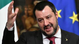 Le ministre italien de l'Intérieur et dirigeant d'extrême droite Matteo Salvini a multiplié les déclarations contre la France.