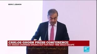 """2020-01-08 14:05 Carlos Ghosn press conference: """"This allegations are untrue"""""""