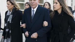 الرئيس السابق للاتحاد الاميركي الجنوبي لكرة القدم (كونميبول) البارغوياني خوان انخل نابوت خلال تقديمه للمحاكمة في بروكلين في تشرين الثاني/نوفمبر 2017.