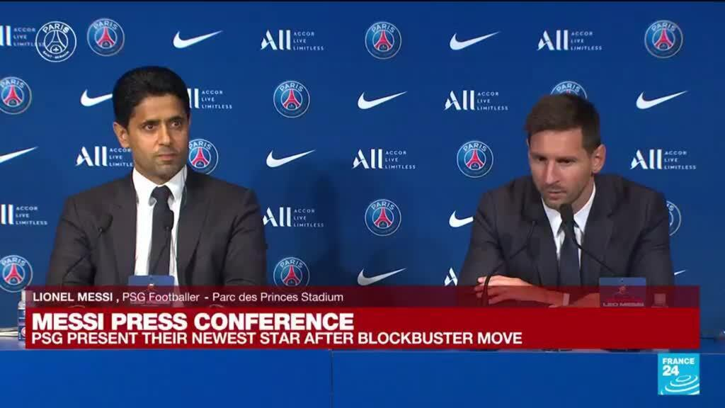 2021-08-11 11:13 Messi's PSG presentation: 'I want to continue to win trophies and titles'