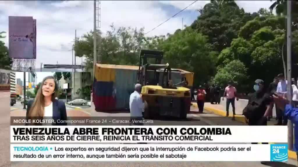 2021-10-05 14:39 Informe desde Caracas: reinicia tránsito comercial de Venezuela a Colombia tras seis años de cierre