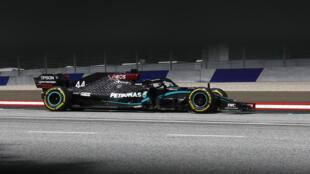 Lewis Hamilton au volant de sa Mercedes-AMG F1W11 lors d GP de Styrie, sur le Red Bull Ring de Spielberg, le 12 juillet 2020