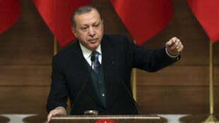 الرئيس التركي رجب طيب أردوغان في أنقرة، في 21 كانون الأول/ ديسمبر 2017.
