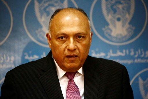 وزير الخارجية المصري شامح شكري في الخرطوم في 20 نيسان/أبريل 2017