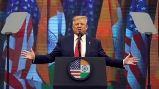 """El presidente de Estados Unidos, Donald Trump, habla durante el evento """"Howdy Modi"""" en Houston, Texas, el 22 de septiembre de 2019."""