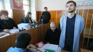Ruslan Sokolovsky devant le tribunal d'Ekaterinbourg, le 13 mars 2017.