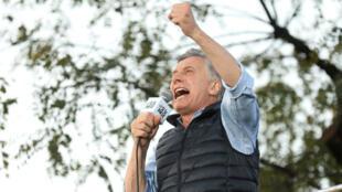 El presidente de Argentina, Mauricio Macri, habla durante un acto de campaña en Buenos Aires, Argentina, el 28 de septiembre de 2019.