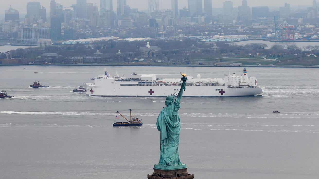 New York gets hospital ship as emergency rooms fill with coronavirus patients