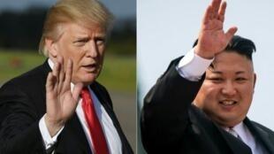 الزعيم الكوري الشمالي كيم جونج أون  والرئيس الأمريكي دونالد ترامب