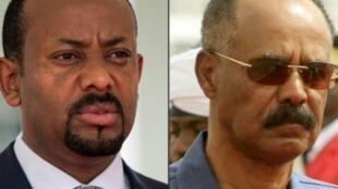 رئيس وزراء إثيوبيا آبي أحمد ورئيس إريتريا إيسايس افورقي