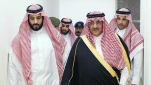 الأمير محمد بن سلمان (يسار) والأمير محمد بن نايف (يمين)