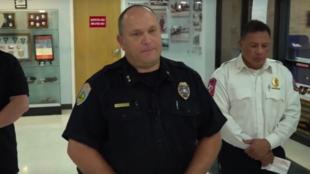 Michael Gerke, jefe del departamento de policía de Odessa, Texas, EE. UU., ofrece una rueda de prensa sobre el tiroteo ocurrido, el 31 de agosto de 2019.