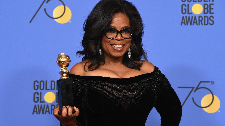 Oprah Winfrey aux Golden Globes 2018, le 7 janvier.