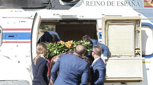 La dépouille de Franco a été transférée par avion vers un cimetière au nord de Madrid, en Espagne, le 24 octobre 2019.