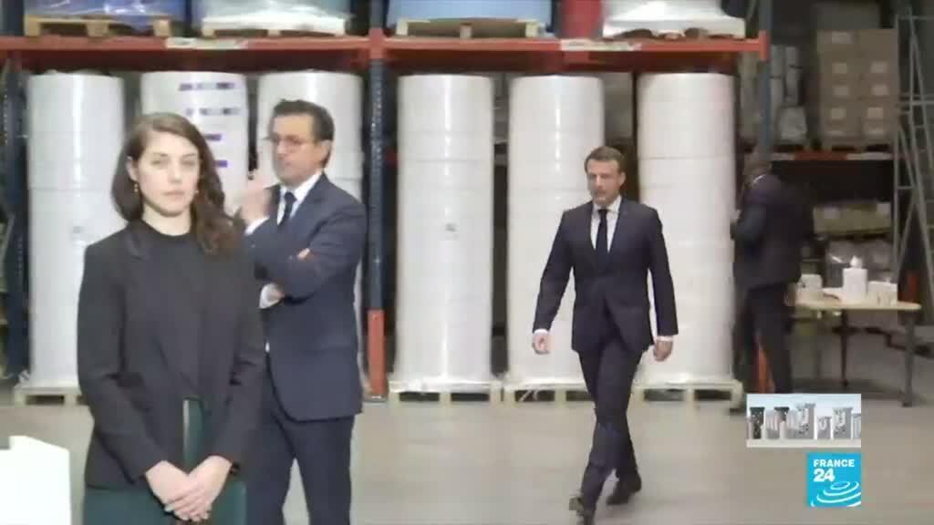 """2020-03-31 17:01 Coronavirus : Macron veut une indépendance """"pleine et entière"""" sur les masques"""