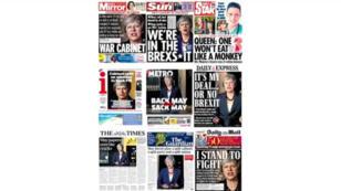 """Le Guardian, ouvertement partisan du """"Remain"""" lors de la campagne du référendum, insistait jeudi sur les clivages que suscite l'accord."""