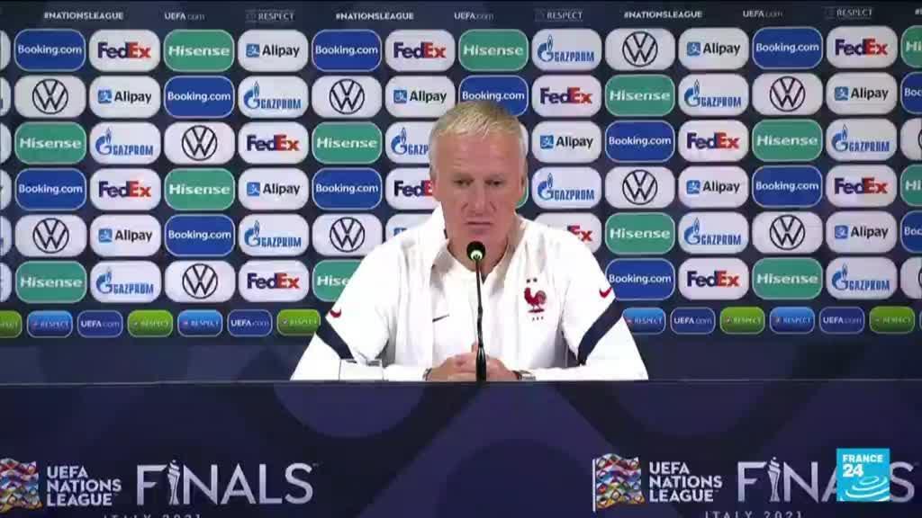 """2021-10-07 10:09 Belgique-France : """"Il y a beaucoup de respect entre les joueurs"""" déclare Didier Deschamps"""