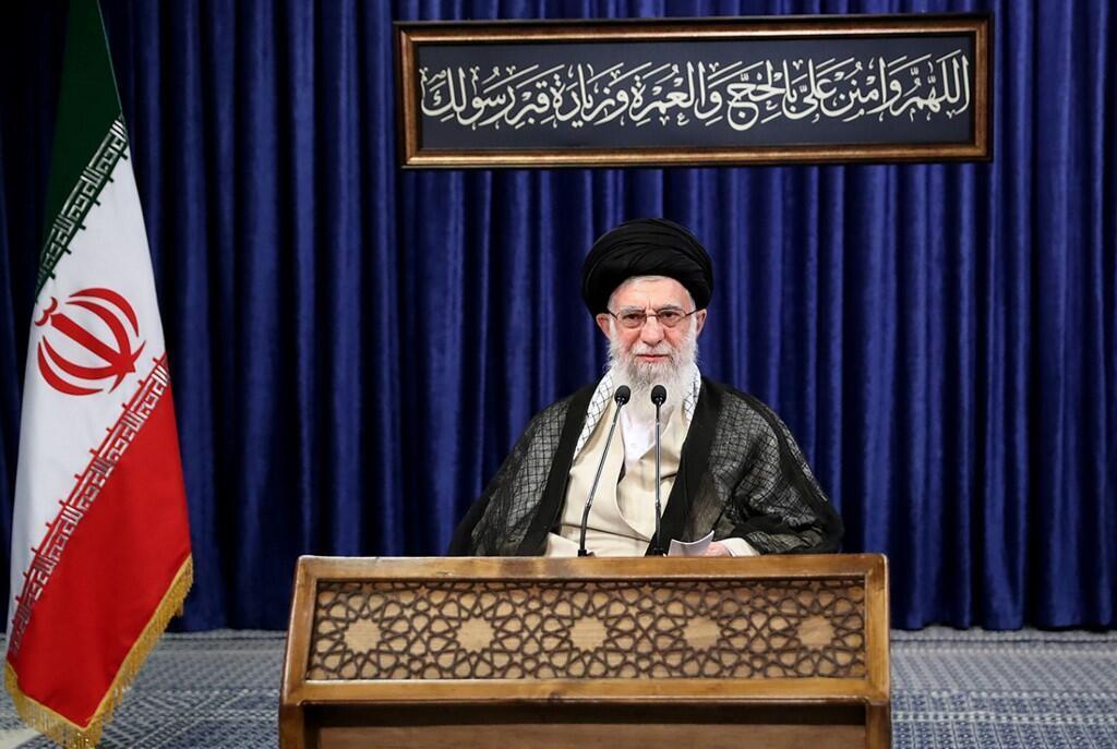 علي خامنئي المرشد الأعلى للثورة الإيرانية يوجه خطابا متلفزا للأمة بمناسبة عيد الأضحى المبارك. 31 يوليو/تموز 2020