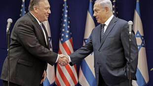 A file picture of US Secretary of State Mike Pompeo (L) and Israeli Prime Minister Benjamin Netanyahu