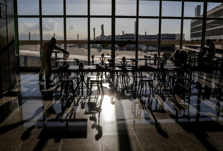 El aeropuerto internacional de Río de Janeiro, en Brasil, el 24 de abril de 2020.